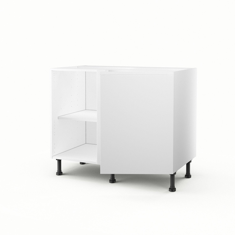 Meuble De Cuisine Bas D Angle Blanc 1 Porte Graphic H 70 X L 100 X  # Meuble D Angle Blanc
