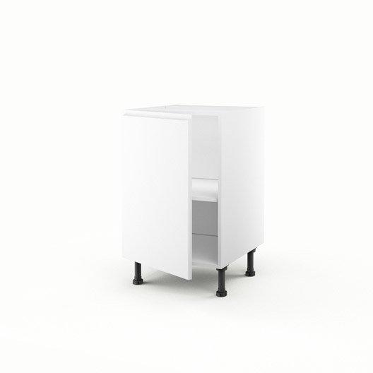Meuble de cuisine bas blanc 1 porte graphic x x for Meuble cuisine 50 x 70