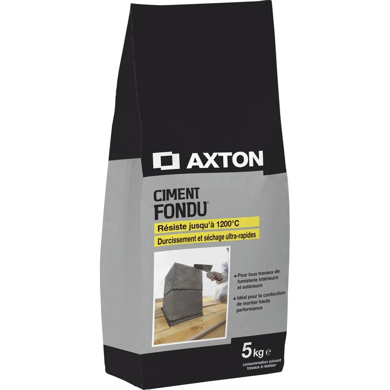 Ciment Gris Réfractaire Ce Axton 5 Kg