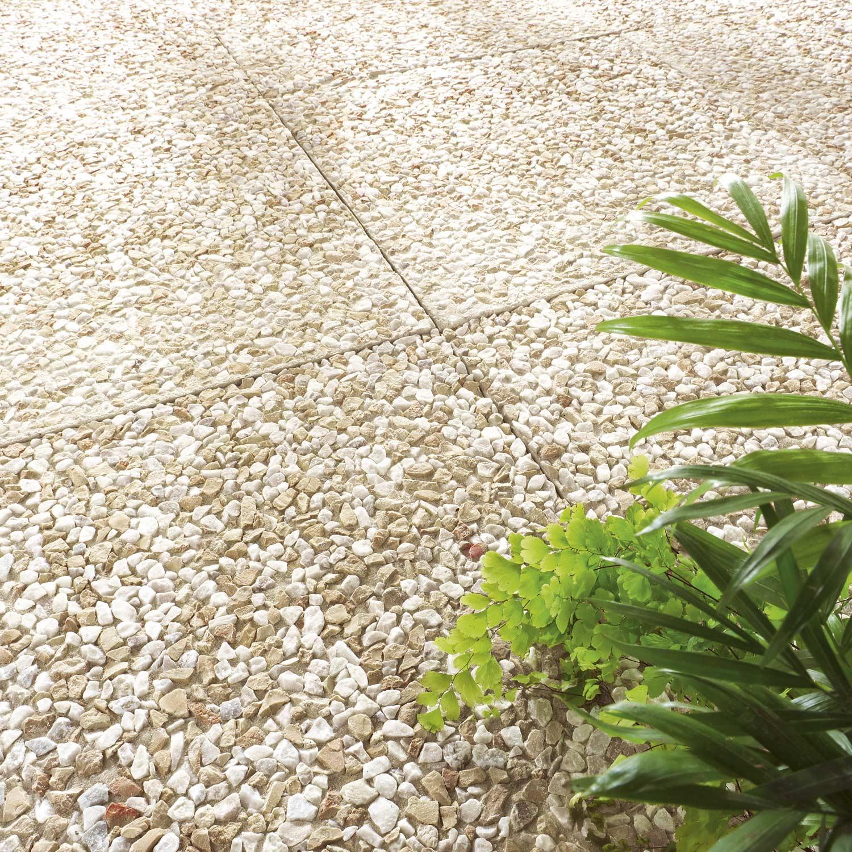 Plaque Beton Cloture Leroy Merlin dalle béton gondre, jaune, l.40 x l.40 cm x ep.35 mm