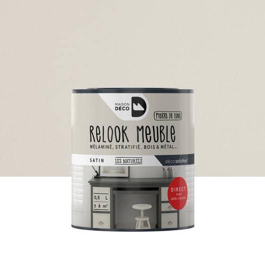 peinture pour meuble objet et porte maison deco relook meuble gris 0 5 l leroy merlin