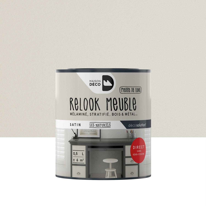 Peinture Pour Meuble Objet Et Porte Maison Deco Relook Meuble  # Renover Un Meuble En Blanc Et Marron