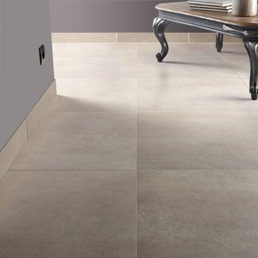 Carrelage sol et mur sable effet pierre roma x for Carrelage 45x45 leroy merlin