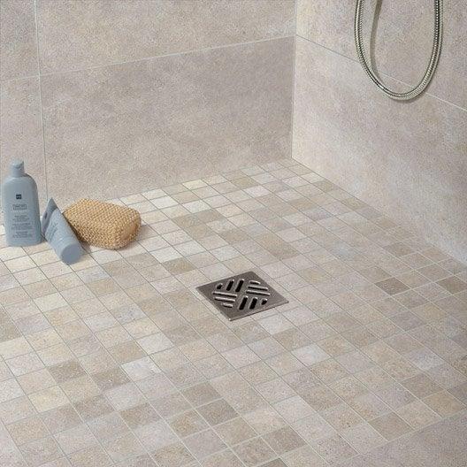 Carrelage sol et mur blanc soie effet pierre roma x l for Carrelage u3p3e3c2