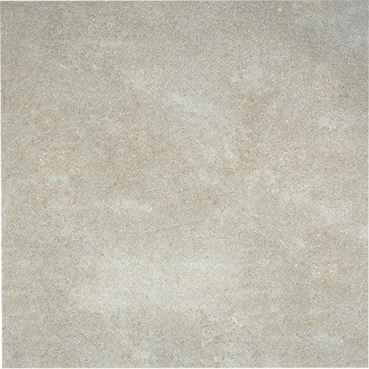 Carrelage sol et mur blanc soie effet pierre roma x l for Glissance carrelage