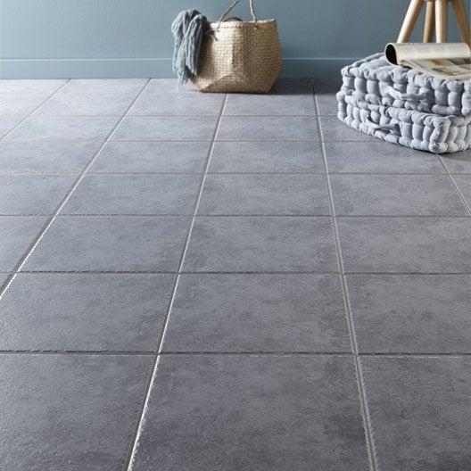 Carrelage sol gris souris effet pierre michigan x l for Carrelage sol gris clair