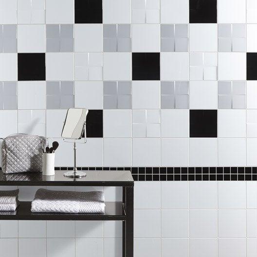 carrelage mural et faïence pour salle de bains et crédence de ... - Faience De Salle De Bain Moderne