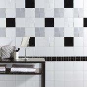 Faïence mur blanc brillant, Astuce l.20 x L.20 cm