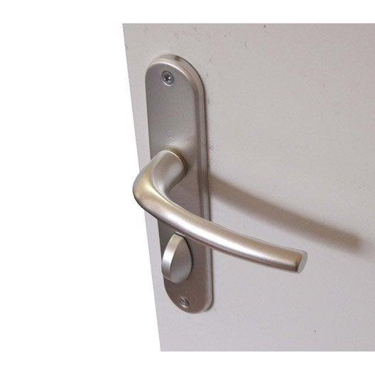 2 poignées de porte san diego condamnation inspire, aluminium, 165
