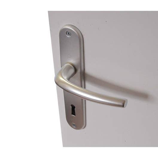 2 poignes de porte san diego trou de cl aluminium 165 mm