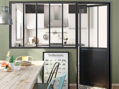 Bien choisir sa verri re d atelier leroy merlin for Paroi vitree industrielle