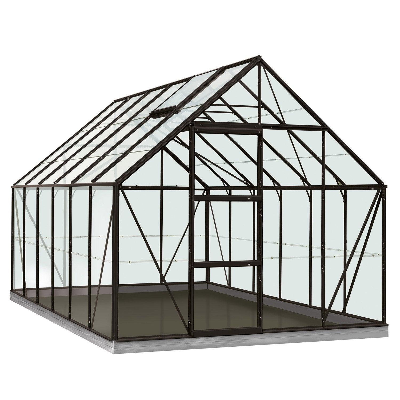 serre de jardin en verre tremp rainbow noir m leroy merlin. Black Bedroom Furniture Sets. Home Design Ideas