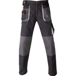 Pantalon de travail de travail multipoche KAPRIOL Smart, gris / noir taille L