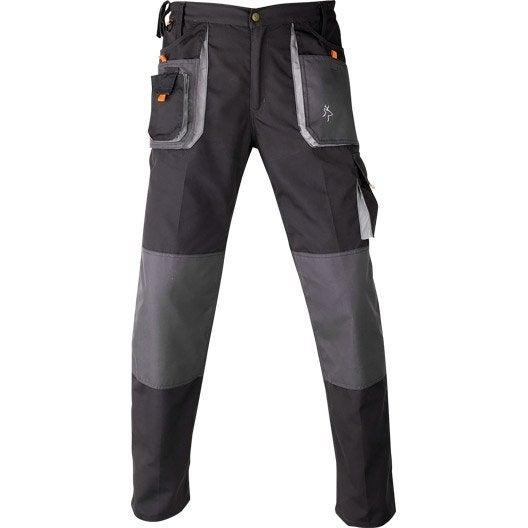pantalon de travail de travail multipoche kapriol smart gris noir taille l leroy merlin. Black Bedroom Furniture Sets. Home Design Ideas