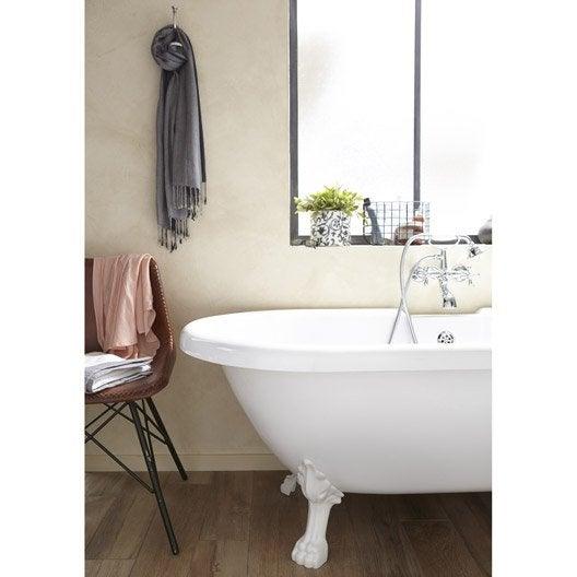 Baignoire lot salle de bains au meilleur prix leroy - Salle de bain avec baignoire sur pied ...