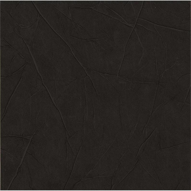Papier Peint Expanse Cuir Froisse Noir Leroy Merlin