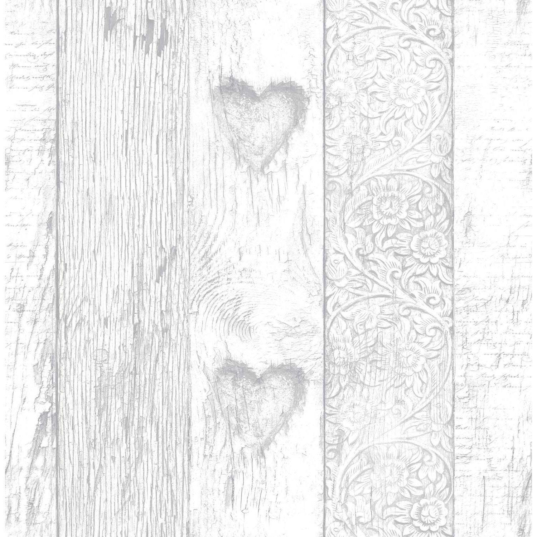 Papier peint papier Plank gris