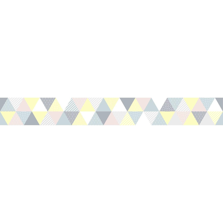 Frise Vinyle Adhésive Triangles, GRAHAM U0026 BROWN L.5 M X L.15 Cm