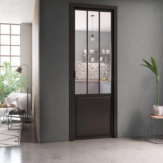 bloc porte atelier xxl avec b ti ajustable laqu e noir. Black Bedroom Furniture Sets. Home Design Ideas