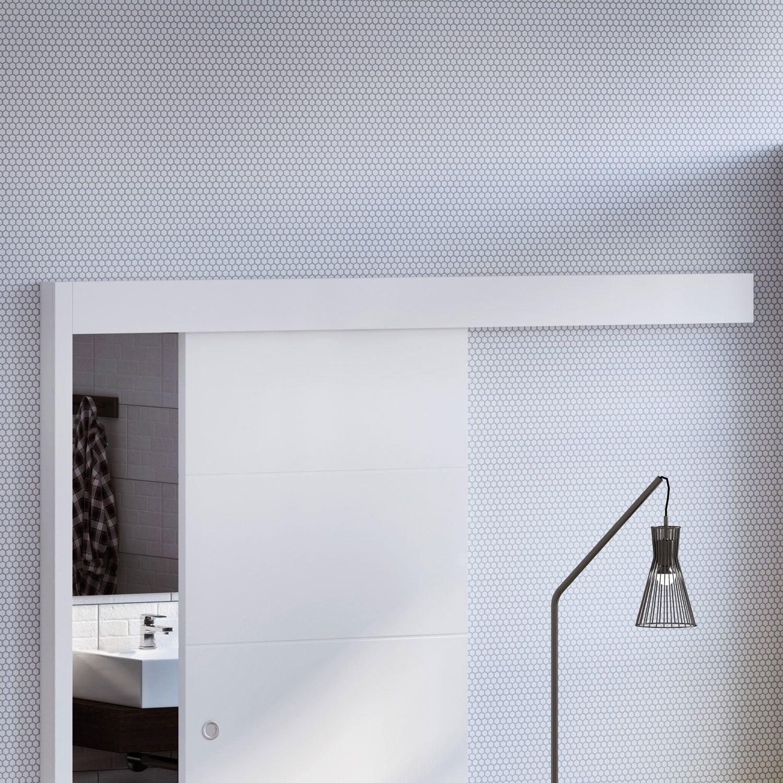 rail coulissant et habillage kerio artens pour porte de largeur 93 cm maximum leroy merlin. Black Bedroom Furniture Sets. Home Design Ideas