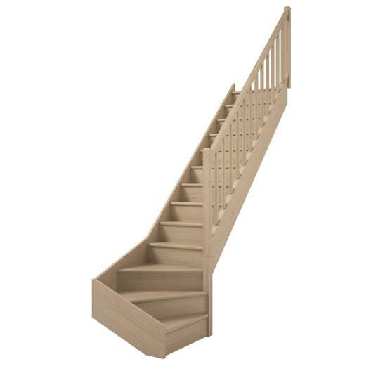 escalier soft quart tournant bas droit h274 rampe classic. Black Bedroom Furniture Sets. Home Design Ideas