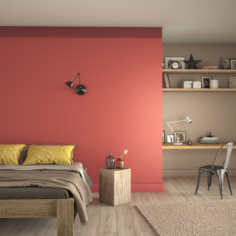 Donner de la chaleur à la chambre avec un mur Orange | Leroy ...