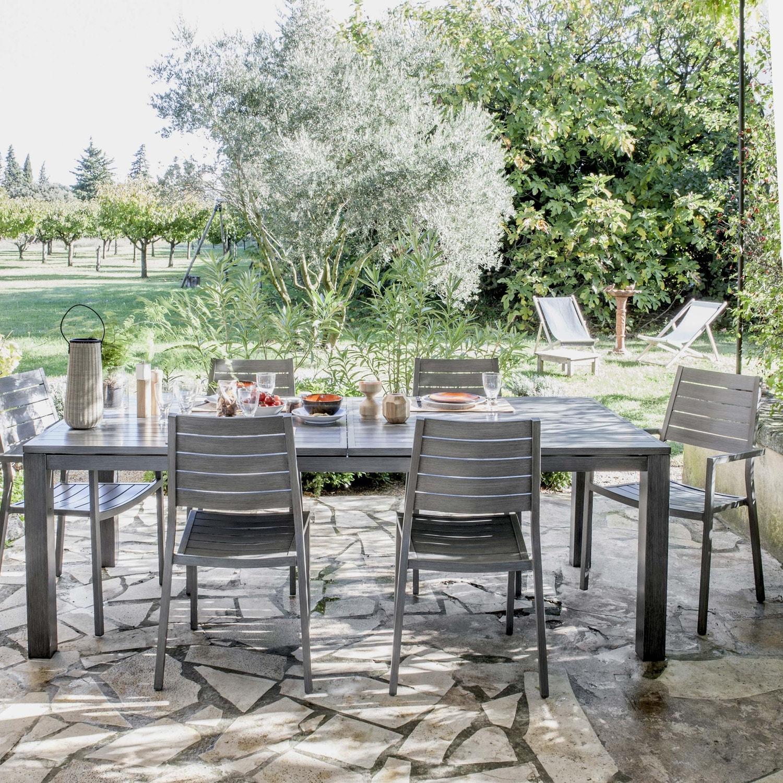 Salon De Jardin Moins De 100 Euros salon de jardin antibes naterial gris, 6 personnes