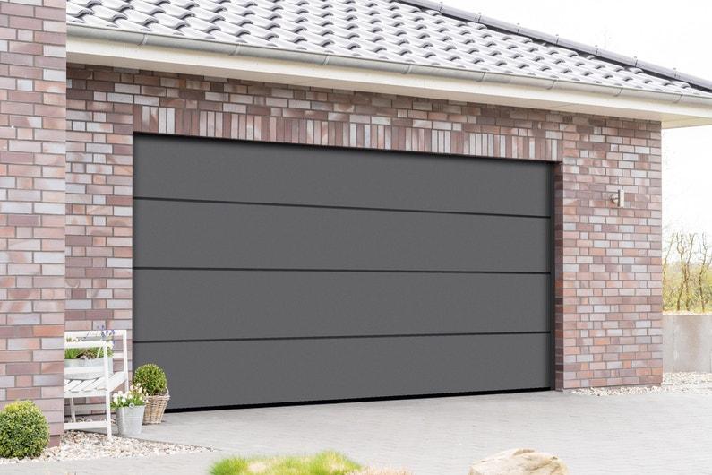 Porte De Garage Sectionnelle Motorisée Artens Premium 2125x300 Gris