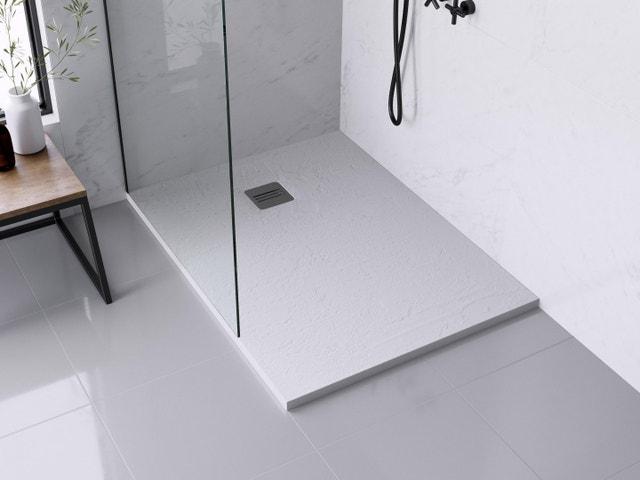 effet marbre et niche dans la douche l 39 italienne leroy. Black Bedroom Furniture Sets. Home Design Ideas