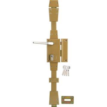 Serrure en applique multipoint SYSTEC, poignée à droite, axe 45 mm