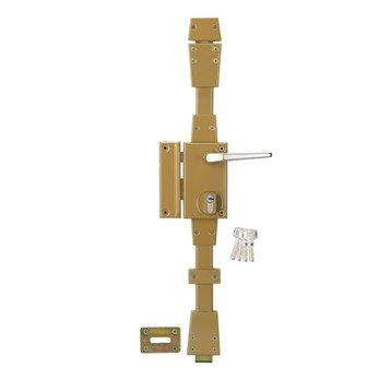 Serrure en applique multipoint SYSTEC, poignée à gauche, axe 45 mm