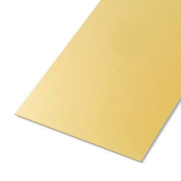 Tôle lisse aluminium anodisé, L.50 x l.25 cm x Ep.0.5 mm