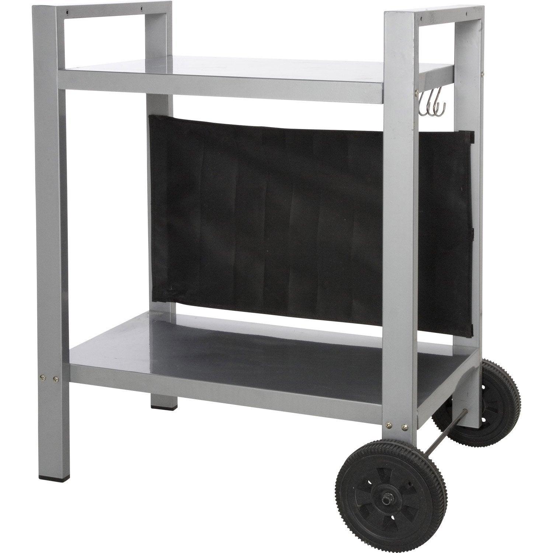 chariot m tal gris anthracite leroy merlin. Black Bedroom Furniture Sets. Home Design Ideas