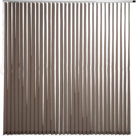 kit complet rail lamelles verticales orientables inspire blanc cm leroy merlin. Black Bedroom Furniture Sets. Home Design Ideas