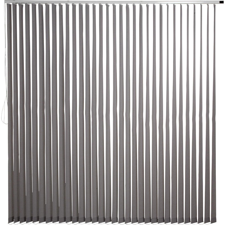 kit rail lamelles verticales orientables gris gris n 3 inspire 250 x 260 cm leroy merlin. Black Bedroom Furniture Sets. Home Design Ideas