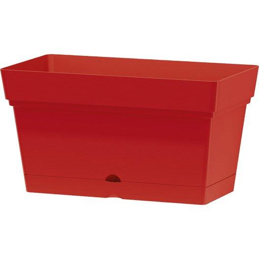 bac r serve d 39 eau en plastique deroma coloris rouge 70. Black Bedroom Furniture Sets. Home Design Ideas