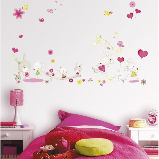 sticker miss mousse 47 cm x 67 cm leroy merlin. Black Bedroom Furniture Sets. Home Design Ideas
