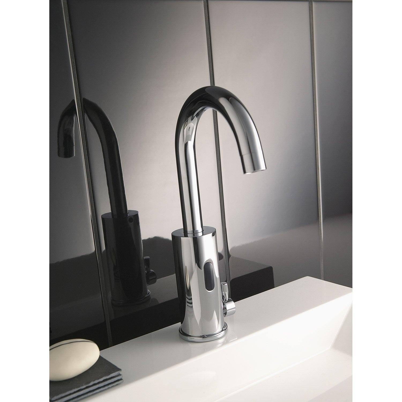 Mitigeur de lave mains eau chaude et froide infrarouge chromé