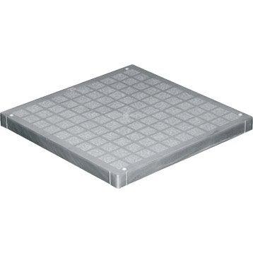 Couvercle pour regard polypropylène gris FIRST PLAST, L.30 x l.30 cm
