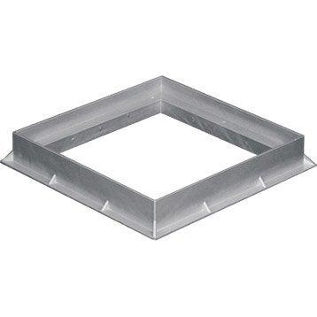Cadre pvc gris FIRST PLAST, L.30 x l.30 cm