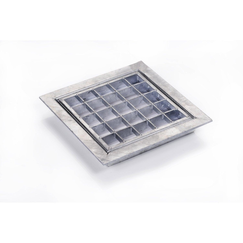 grille caillebotis et cadre acier galvanis x cm scover plus leroy merlin. Black Bedroom Furniture Sets. Home Design Ideas