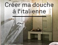 layer douche a l'italienne