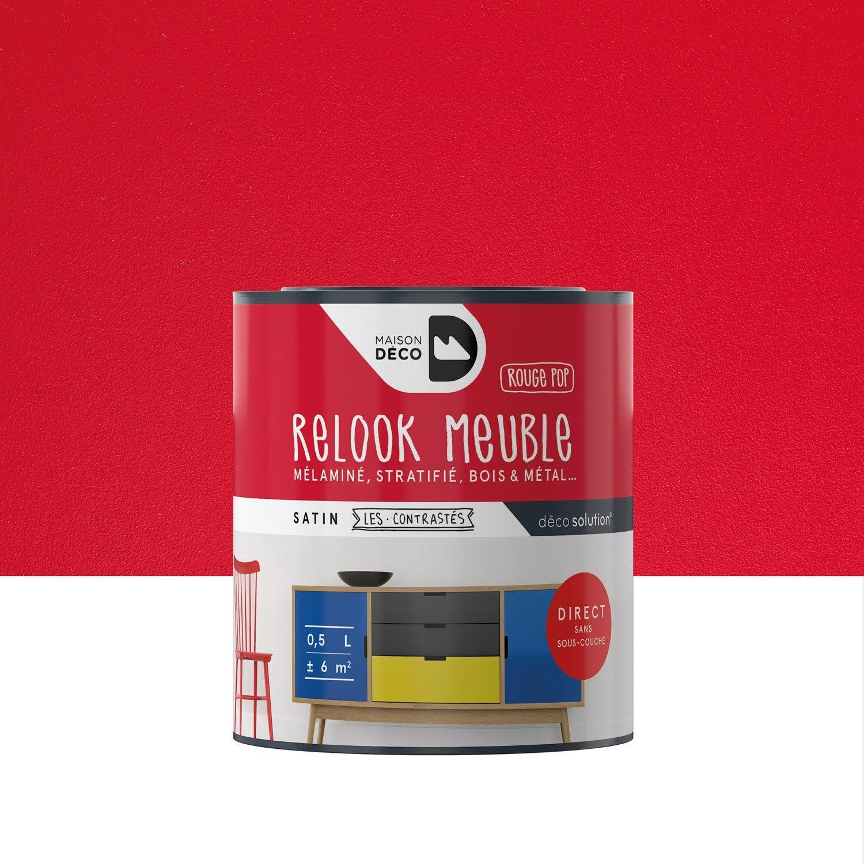Peinture Pour Meuble Relook Meuble Maison Deco Rouge 0 5 L  # Meubles Metal Rouge