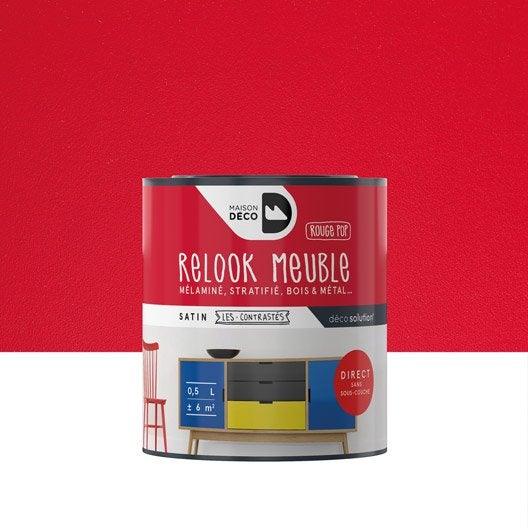 Peinture Pour Meuble Relook Meuble Maison Deco Rouge 0 5
