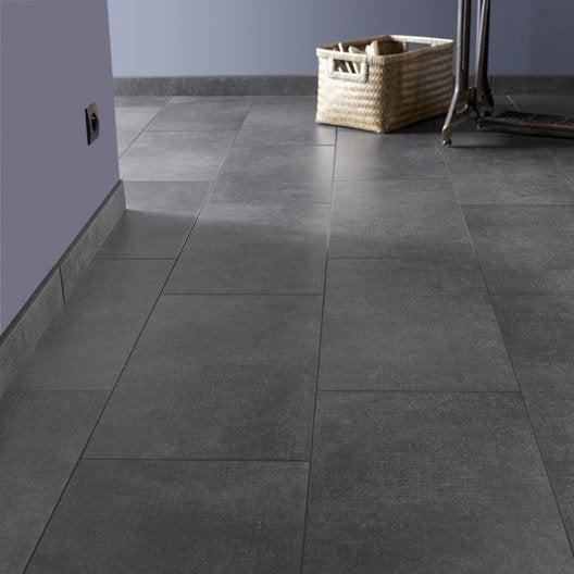 Carrelage sol et mur noir effet b ton asphalte x for Joint de couleur pour carrelage