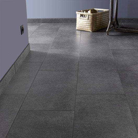 carrelage sol et mur noir effet b ton asphalte x cm leroy merlin. Black Bedroom Furniture Sets. Home Design Ideas