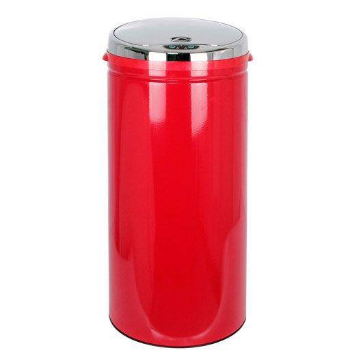 Poubelle de cuisine automatique epoxy rouge 42 l leroy merlin for Poubelle de cuisine automatique l