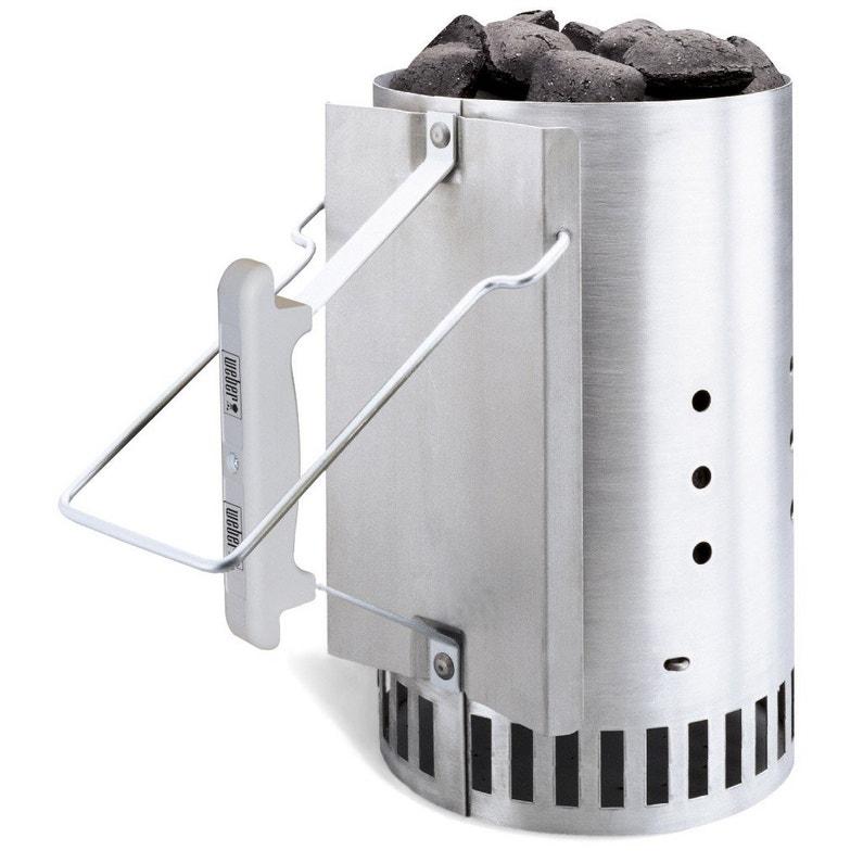 barbecue au charbon de bois weber original kettle 57 et kit d 39 allumage noir leroy merlin. Black Bedroom Furniture Sets. Home Design Ideas