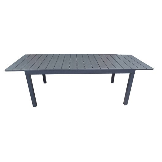 Table de jardin naterial pratt rectangulaire gris leroy for Table de jardin truffaut