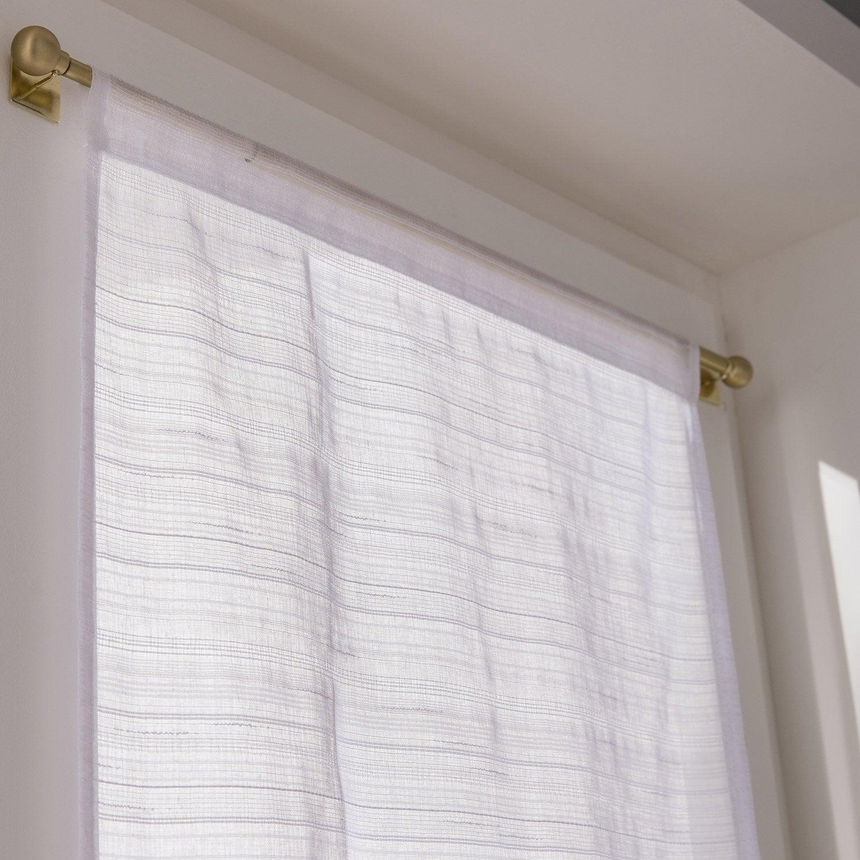 paire de vitrages tamisant petite hauteur lola blanc x cm leroy merlin. Black Bedroom Furniture Sets. Home Design Ideas